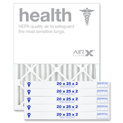 AIRx Filters Health 20x25x2 Air Filter Replacement Pleated MERV 13, 6-Pk
