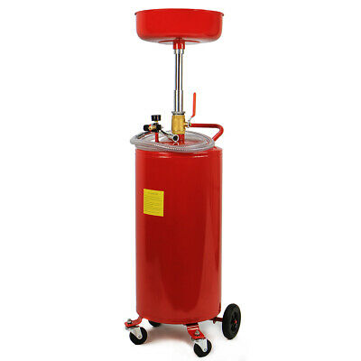 20 Gallon commercial Portable Waste Oil Drain pan Tank Air Operated Drainer new