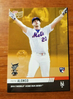 Pete Alonso Peter 2019 Topps Now home run derby winner gold bonus RC rookie card