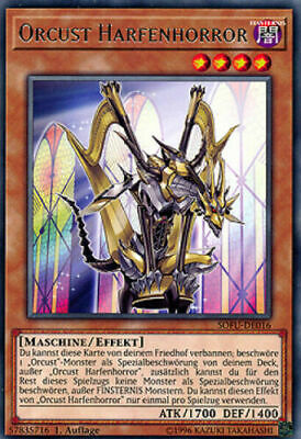 Yugioh x1 German Orcust Harp Horror Super Rare Preorder 8/15 HOT!