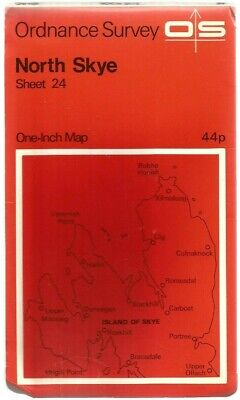 OS Ordnance Survey One-Inch Map (Paper) : Sheet 24 North Skye..Used..Good..