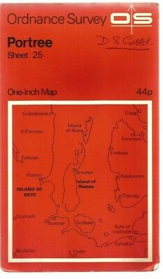 OS Ordnance Survey One-Inch Map (Paper) : Sheet 25 Portree..Used..Good..
