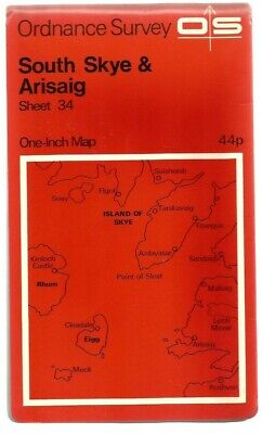 OS Ordnance Survey One-Inch Map (Paper) : Sheet 34 South Skye & Arisaig...Used..