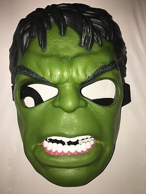 "The Incredible Hulk Children's Mask With Strap 9"" Hasbro"