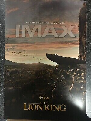 """The Lion King 2019 ORIGINAL S/S 13"""" x 19"""" IMAX Movie Poster Glover Beyonce"""