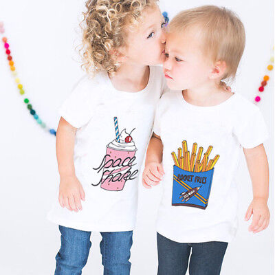 Kids Children Baby Girls Boys Blouse Vest Soft Tops Cute T-Shirt Casual Clothes