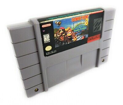Donkey Kong Country 3: Dixie Kong's Double Trouble (SNES) Authentic Tested