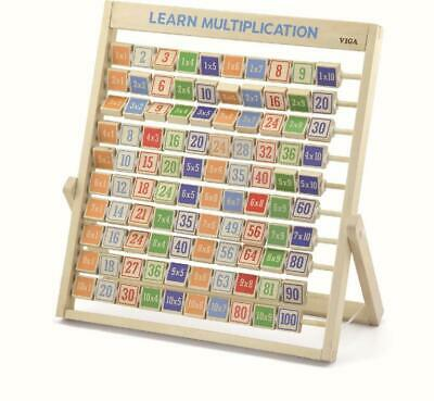 NEW Viga Toys Educational Learning Multiplication Frame - Learn Time Tables Math