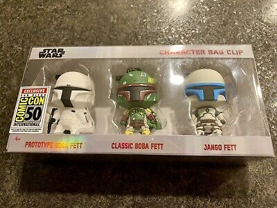 Monogram SDCC 2019 Star Wars Bag Clips Boba Fett Comic Con Exclusive