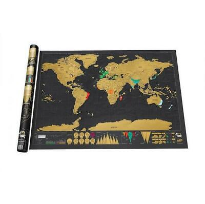 Large Scratch Off World Map Travel Log Journal Poster Wall Decor Gifts 2019