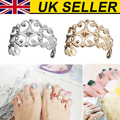 UK Women Celebrity Vintage Toe Ring Adjustable Foot Finger Fashion Beach Jewelry