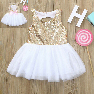 Baby Girls Infant Kids Sequins Dress Princess Party Tutu Sundress Casual Dresses