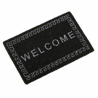 2X(Doll House Miniature carpet WELCOME Mat Dollhouse Accessories Home & Liv I1Y6