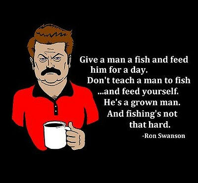 """Parks and Rec: Ron Swanson """"Fish"""" T-shirt -ALL SIZES  *High Quality*"""