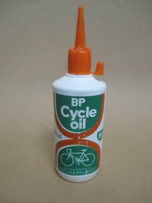 Oil bottle, BP Cycle Oil, New Old stock, Peugeot cycles, vintage