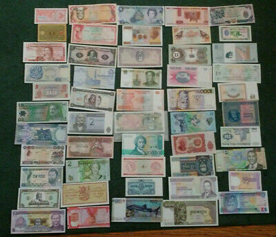 Amazing Collection -- 176 Different World Banknotes, All Different Countries