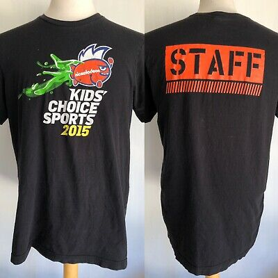 NICKELODEON KID'S CHOICE SPORTS (2015) Rare Official STAFF T-Shirt Size Large