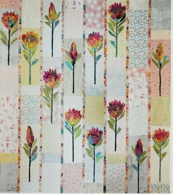 Protea - collage style applique quilt PATTERN - Laura Heine