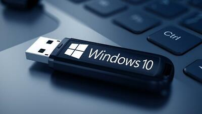 WIN10 Pro 32/64Bit System Recovery Software Disc's on USB latest!