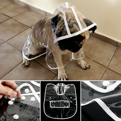 Waterproof Dog Hooded Transparent Rain Coat Puppy Dog Clothes Pet Supplies