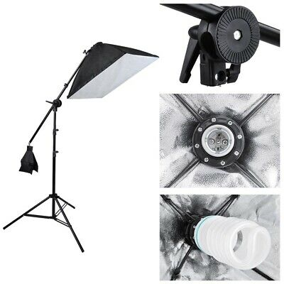 Photograpy 3 Softbox Boom Stand Continuous Lighting Kit Photo Studio Video 2000w