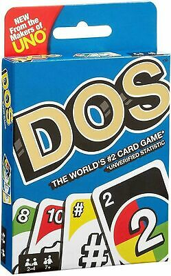 Dos Card Game From The Makers Of Uno Mattel New Sealed Pack From UK Part Fun
