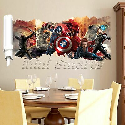3D The Avengers Wall Sticker Children Body Room Home Gift Mural Art Decal Decor