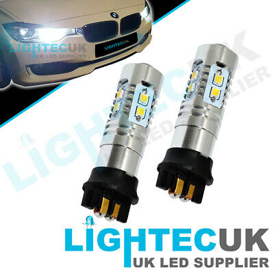 2x CANBUS BMW 1 2 3 SERIES XENON LED BULBS DRL DAYTIME RUNNING LIGHTS PW24W