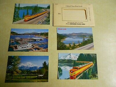 Vintage Southern Pacific Line 5 Colored View Post Cards