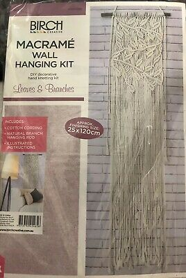 Birch Macrame Wall Hanging Kit - Leaves & Branches - Retro