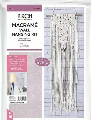 Birch Macrame Wall Hanging Kit - Twists - Retro