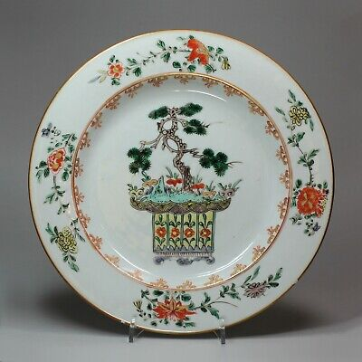 Antique Chinese famille verte plate, Kangxi (1662-1722)
