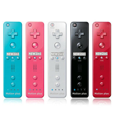 For Nintendo Wii Wiimote Built in Motion Plus Inside Remote Controller w/Case AU