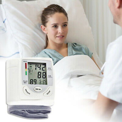 Automatic Wrist Blood Pressure Monitor with Digital LCD Display BP Easy to Use