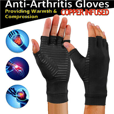 CFR Anti Arthritis Copper Fingerless gloves compression therapy circulation IA
