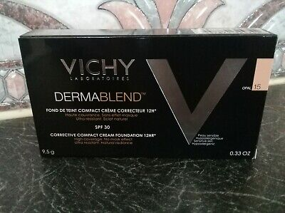 New~Vichy~Dermablend 12Hr Corrective Compact Cream Foundation~Shade 15 / Opal