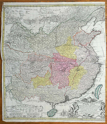 Homann: Huge Original Map China Regni Sinae - 1740