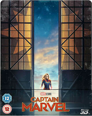 Captain Marvel 3D/2D Limited Edition Blu Ray Steelbook New
