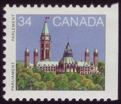 CANADA #925asi 34c Parliament Buildings, booklet single s/e right, from BK89 MNH