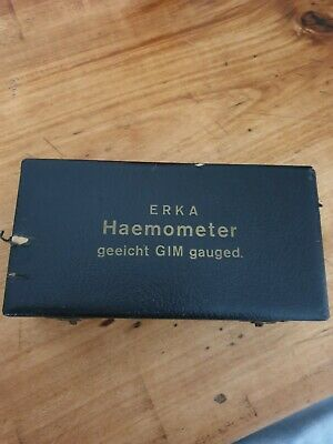 altes Haemometer in Originalschatulle