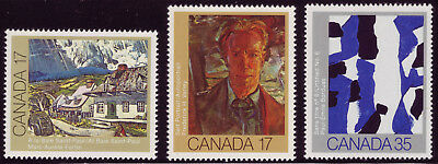 CANADA 3 sheet singles, #887 #888 #889, 3 Paintings by Canadian Painters, F MNH