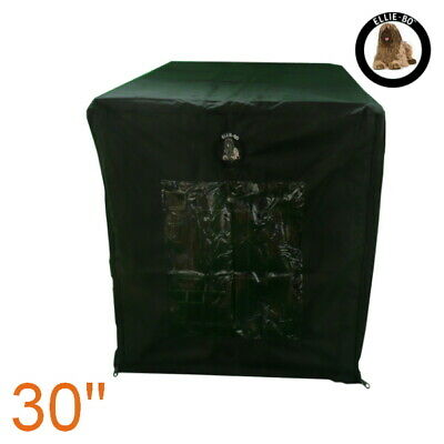 """Black Waterproof Cage Cover for Medium 30"""" Dog Carrier Crate"""