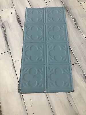 """24 1/2 """" x 12 """" Antique Tin Ceiling Tile Vintage metal for craft projects decor"""