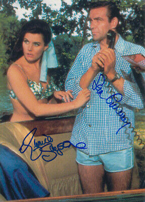 007 James Bond Cast Autograph From Russia With ... Sean Connery &  Eunice Gayson