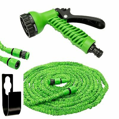 Extra Long Retractable Expandable Magic Garden Hose Pipe /& Spray Gun UK25-150FT