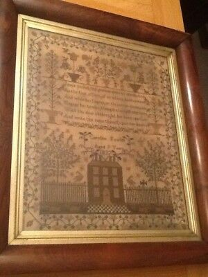 Beautiful Antique EMBROIDERY SAMPLER 1837