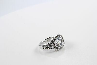 Women's Sterling Silver 925 Art Deco Ring with CZ's Free Shipping! #80125