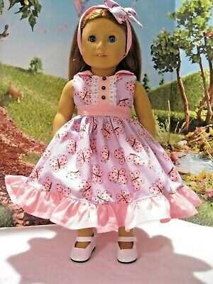 Candlelight /& Lilac Floral Dress Great for 18 inch Doll American Girl Blaire NEW
