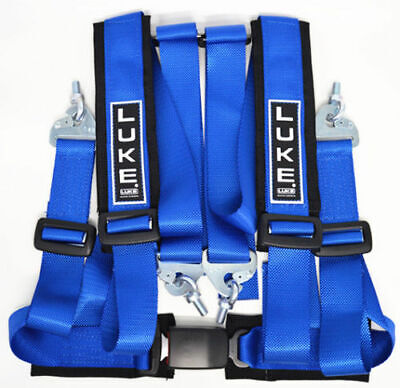 Luke GM4 GHR4 Sports Road/Track Day 4 Point Harness In Blue