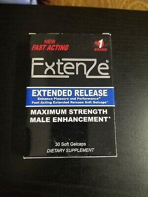 EXTENZE EXTENDED RELEASE GEL CAPS - 30 COUNT (Packaging may vary) Exp 1/20+